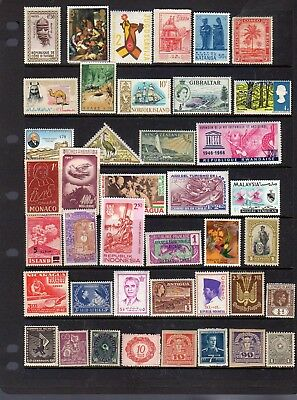 41 all different mint stamps