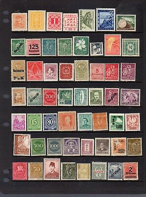 55 small mint world stamps - see scan