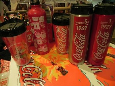 Coca Cola Drink Containers x 5