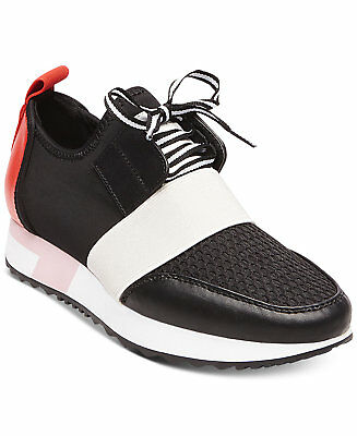 088e6f183e1 Steve Madden Antics Sneakers Athleisure Sporty Shoes Black Red Multi Size  5.5