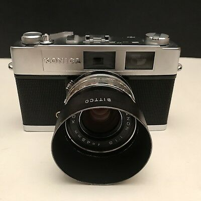 WORKING TESTED Konica Auto S2 Rangefinder 35mm Film Camera - A Leica M3 Killer