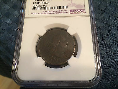 1794 Liberty Cap Large Cent 1C S-65 HEAD OF 1794 - NGC F Details