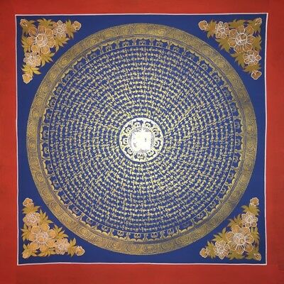 Large Original Handpainted Tibetan Chinese Mandala Thangka Painting Meditation