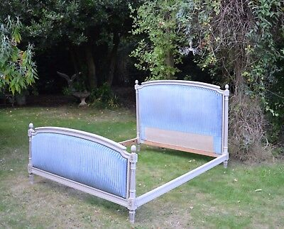 French King Size Vintage Upholstered Bed Louis Xvi Style