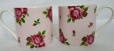 Royal Albery New Country Roses 2x cups/mugs