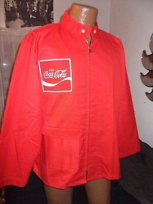 Coca Cola Red Jacket Large Uniform Coat With Patch From Peerless Vintage Coke