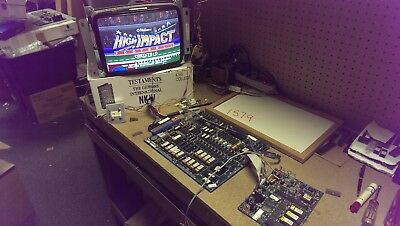 HIGH IMPACT FOOTBALL - 1990 Midway - Guaranteed Working JAMMA PCB with sound pcb