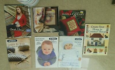 Patterns Books PATONS Knitting Cross Stitch