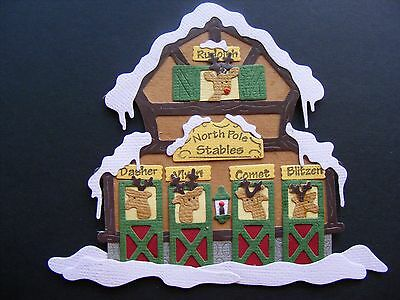 Diecut Cottagecutz Embellishment North Pole Stables So Cute
