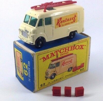 Matchbox Series Tv Service Van 62 Rentaset A Lesney Product En Caja Original