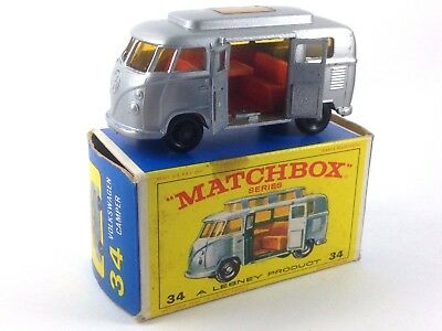 Matchbox Series Vw Volkswagen Camper 34 A Lesney Product En Caja Original