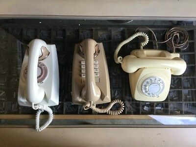3 ( three ) VINTAGE 1960 s/ 70s ORIGINAL AND NEW 802 / 891 and 897 TELEPHONES