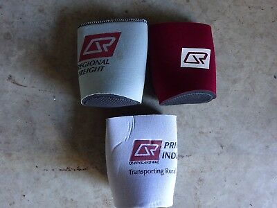3 Queensland Railway Stubby Coolers New Never Used