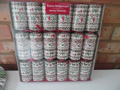 Emma Bridgewater Box of 6 Luxury Christmas Joy Crackers - New