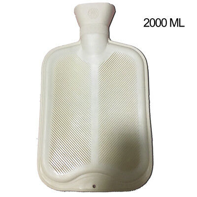 5 X New 2L Liter Large Hot Water Natural Rubber Bottle Warmer Cream White