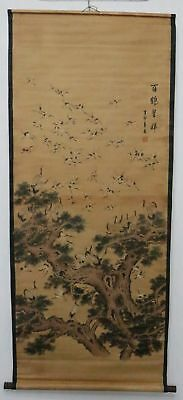 Old Collection Scroll Chinese Painting /Crane Painting ZH1038