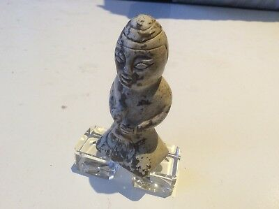 A Vintage Chinese hand carved jade/stone 'Little Man' statue.