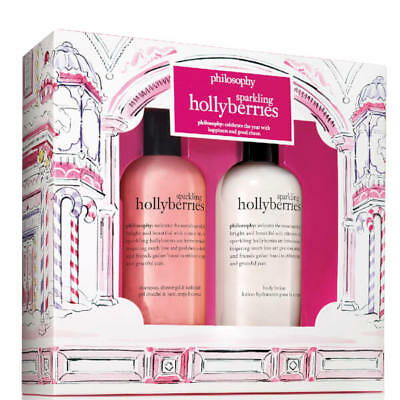 PHILOSOPHY Sparkling Hollyberries Shower gel & Body lotion duo_Christmas gift