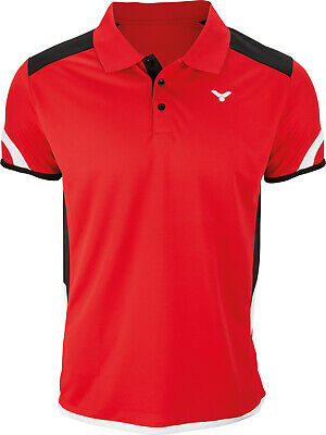 VICTOR Polo Function Unisex red 6727 Badminton Tennis Squash Trikot