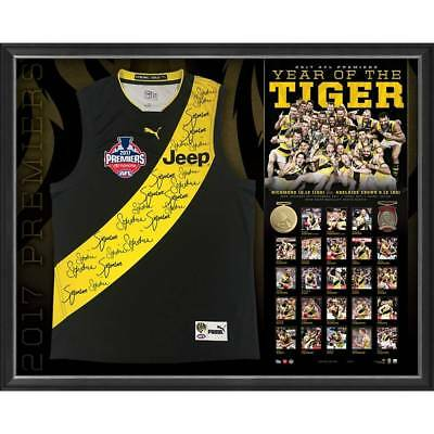 Richmond 2017 Team Signed Framed Afl Premiership Jumper Cotchin Riewoldt Martin