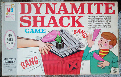 Vintage 1968 Milton Bradley Dynamite Shack Board Game - Marvin Glass - Complete
