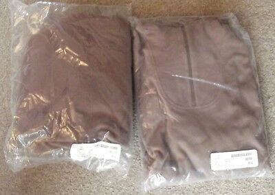 British Army Issued Cold Weather Thermal Fleece Tops, Large X 2 - New