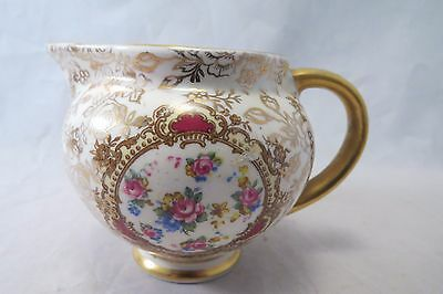 James Kent Creamer Pompadour Longton England Gold Accent and Pink Floral