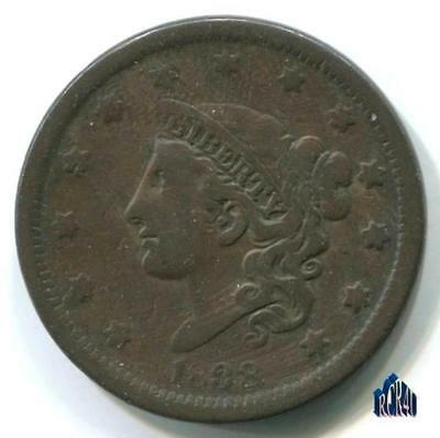1838 CORONET HEAD BETTER LARGE CENT! TAKE A LQQK!   COMBINE SHIPPING No ReSeRvE