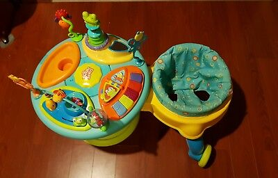 Bright Start Around We Go Activity Table walker toddler tool music toys baby
