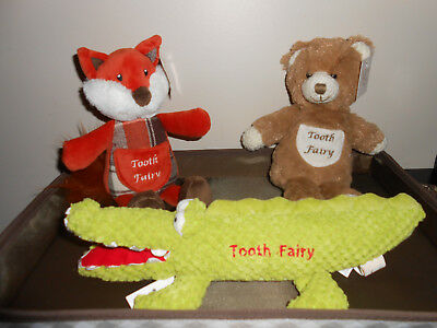 TOOTH FAIRY ANIMAL PILLOW - Pick Your Animal - new with tags - free shipping
