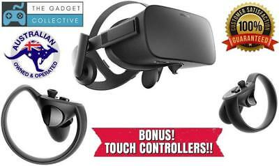 Oculus Rift Virtual Reality VR Gaming Headset + TOUCH CONTROLLERS.