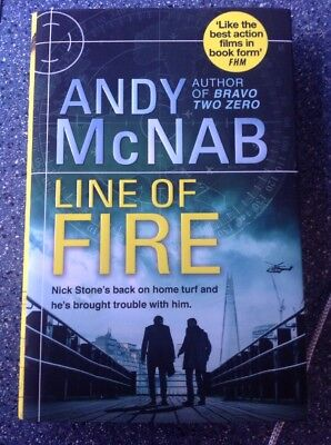 Line Of Fire - Andy McNab Signed Book