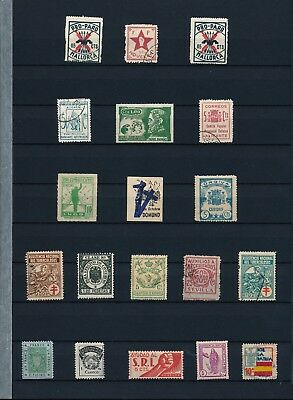 Spain. Double stockpage with civil war issues #6