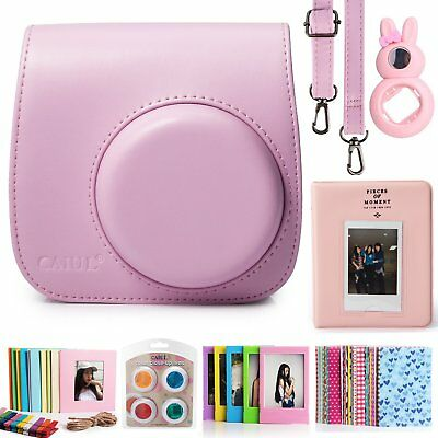 Fujifilm Instax Mini Camera Reliable Accesories Bundles Instant Selfie Lens Pink