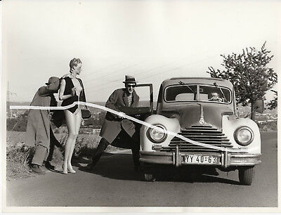 24x18 Original Foto 1970 DDR Comedy Film BMW 326 EMW 340 v 1951 Oldtimer photo