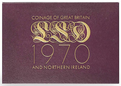 Uk / 1970 / Coinage Of Great Britian & Nothern Ireland / 8 Coin Proof Set