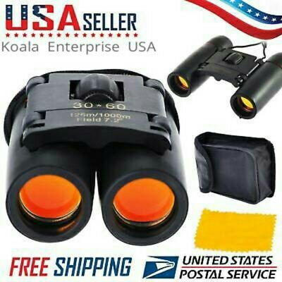 Day and  Night Vision Binoculars 30x60 Zoom Outdoor Travel Folding Bag Survival