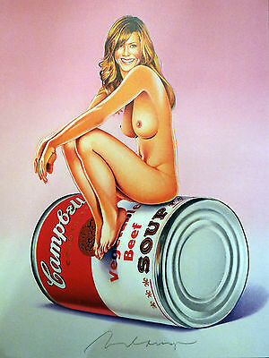 MEL RAMOS Farboffset-Lithografie Campbell's Soup Blondes,Suzie Soup 2016 + Buch