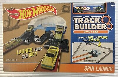 Hot Wheels Track Builder System Spin Turn Launcher Track Extension NEW FREE P&P