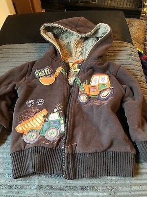 boys hooded tractor top age 18 - 24 months