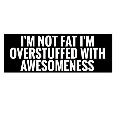 I'm Not Fat I'm Stuffed With Awesome Hard Hat Motorcycle Helmet Funny Sticker