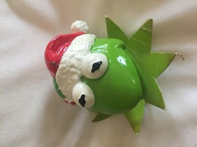 1979 Kermit Sigma Jim Henson Muppet Hand Painted Paper Mache Ornament