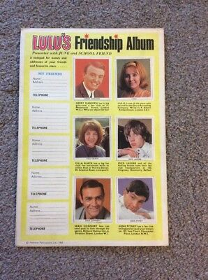 Lulu's Friendship Album  presented with June Magazine 1965 Beatles, Mick Jagger