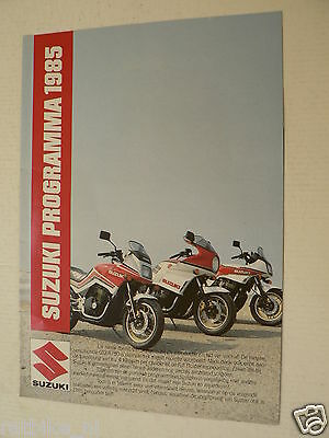 A201-Suzuki Programma 1985 Brochure Poster 1985 Models Dutch 8 Pages Rg250W,Xn85
