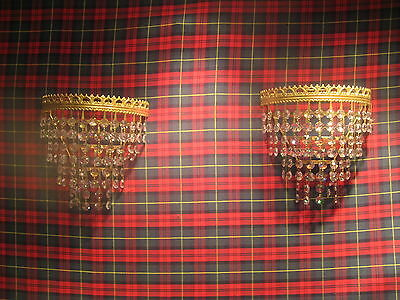 A Pair Of Vintage Deme Lune Wall Lights Fully Working Superb Quality /3933