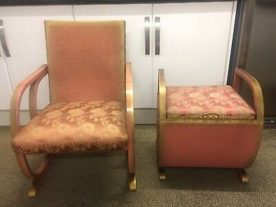 Antique Chair And Matching  Foot Stool For Sale! Wow!