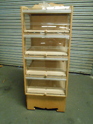 "Free Standing Bakery Bread Donut Pastry Wood Display Case ""New"""