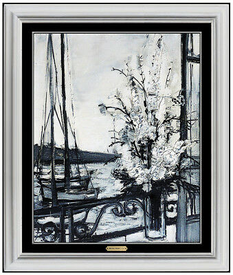 Michel Henry Original Still Life Painting Oil On Canvas Signed Seascape Artwork