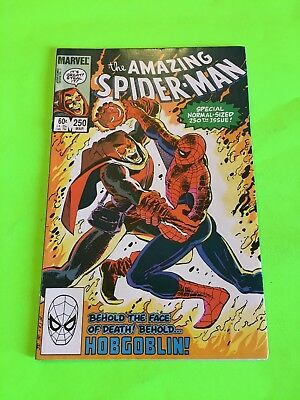 Amazing Spiderman 250 Hobgoblin Cover! Classic Romita Cover! Gorgeous Book! Wow!