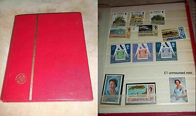 Stamp Album Stockbook over 350 Jersey stamps with over £9 mint